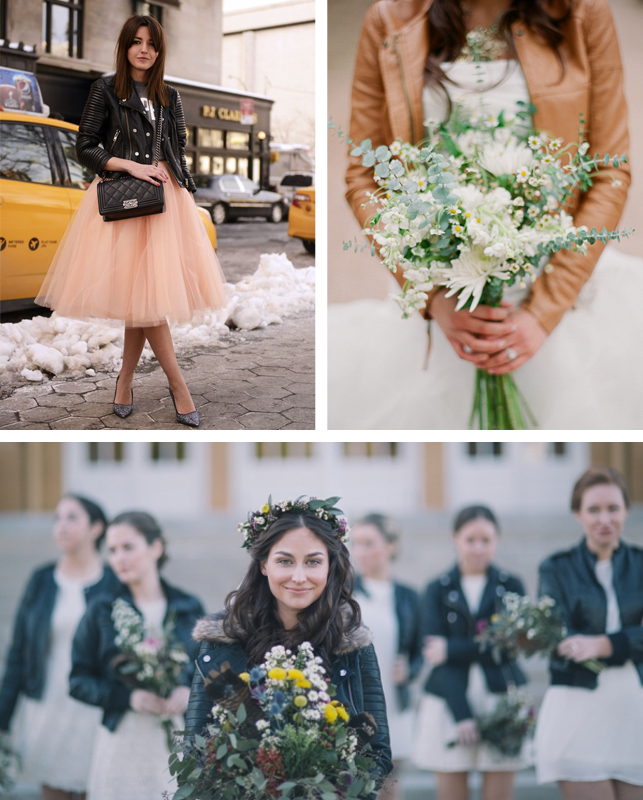bridesmaids leather jackets