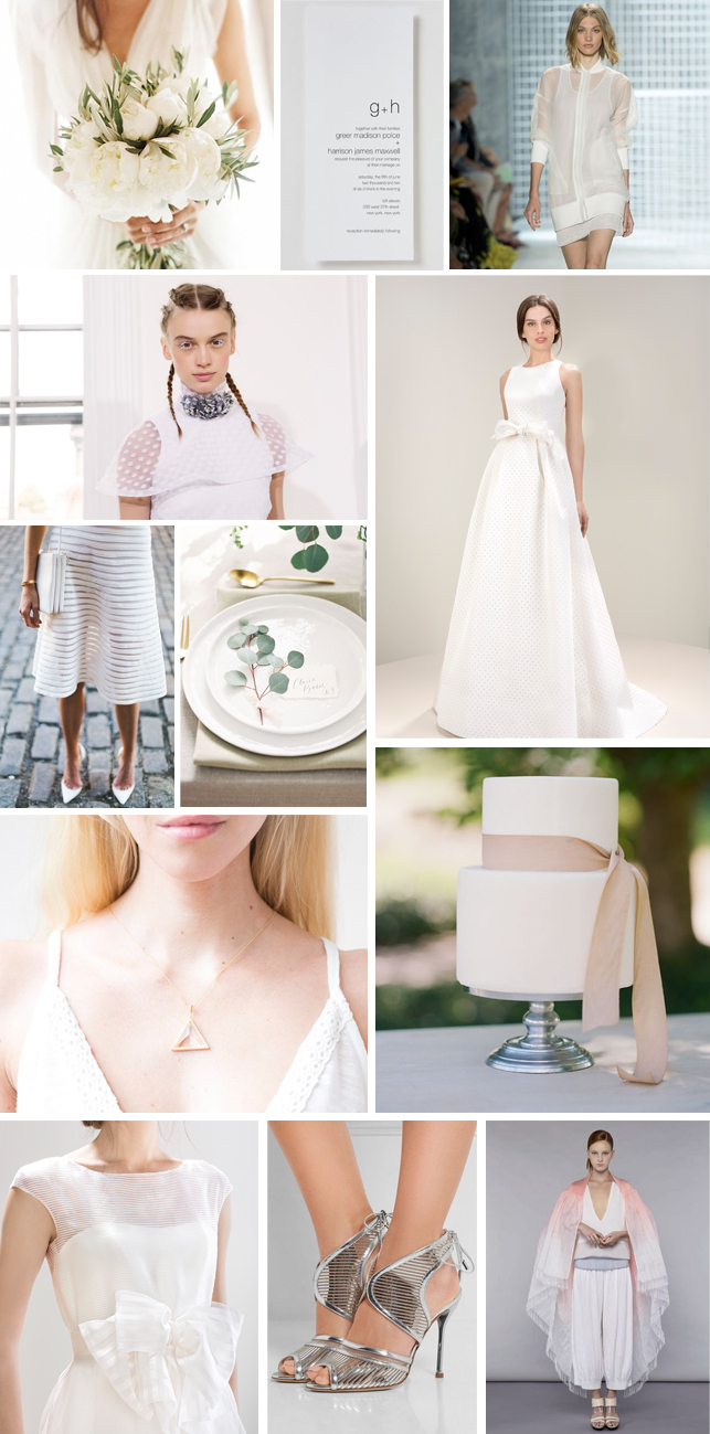 Monday Moodboard - Sports Luxe inspired minimalist wedding ...