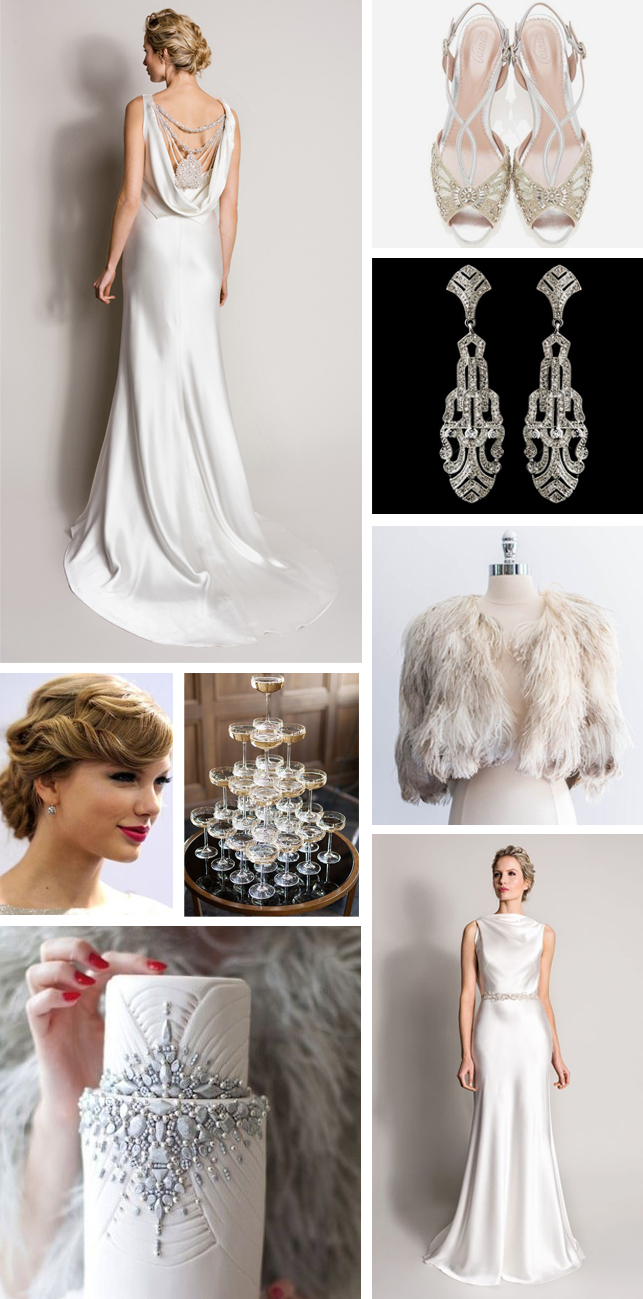 Monday Moodboard - glamorous silver 1930s art deco Wedding ...